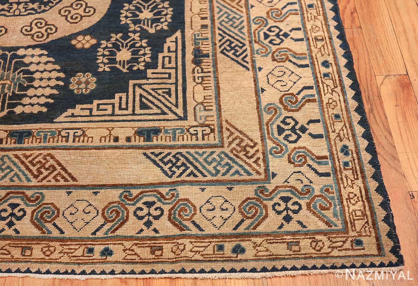 Antique Khotan Oriental Rug 43179 Side Corner Nazmiyal