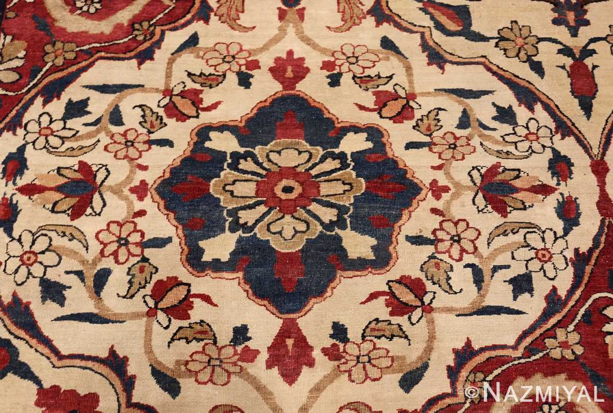 antique persian kerman rug 1817 blue Nazmiyal