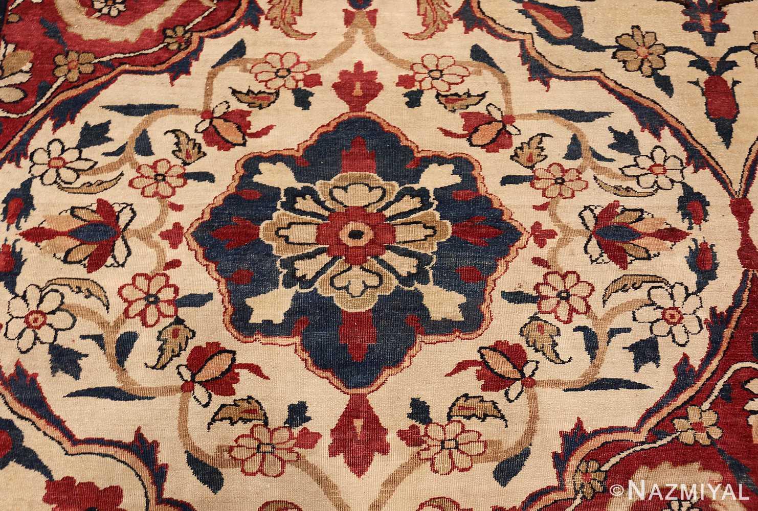 antique persian kerman rug 1817 blue Nazmiyal
