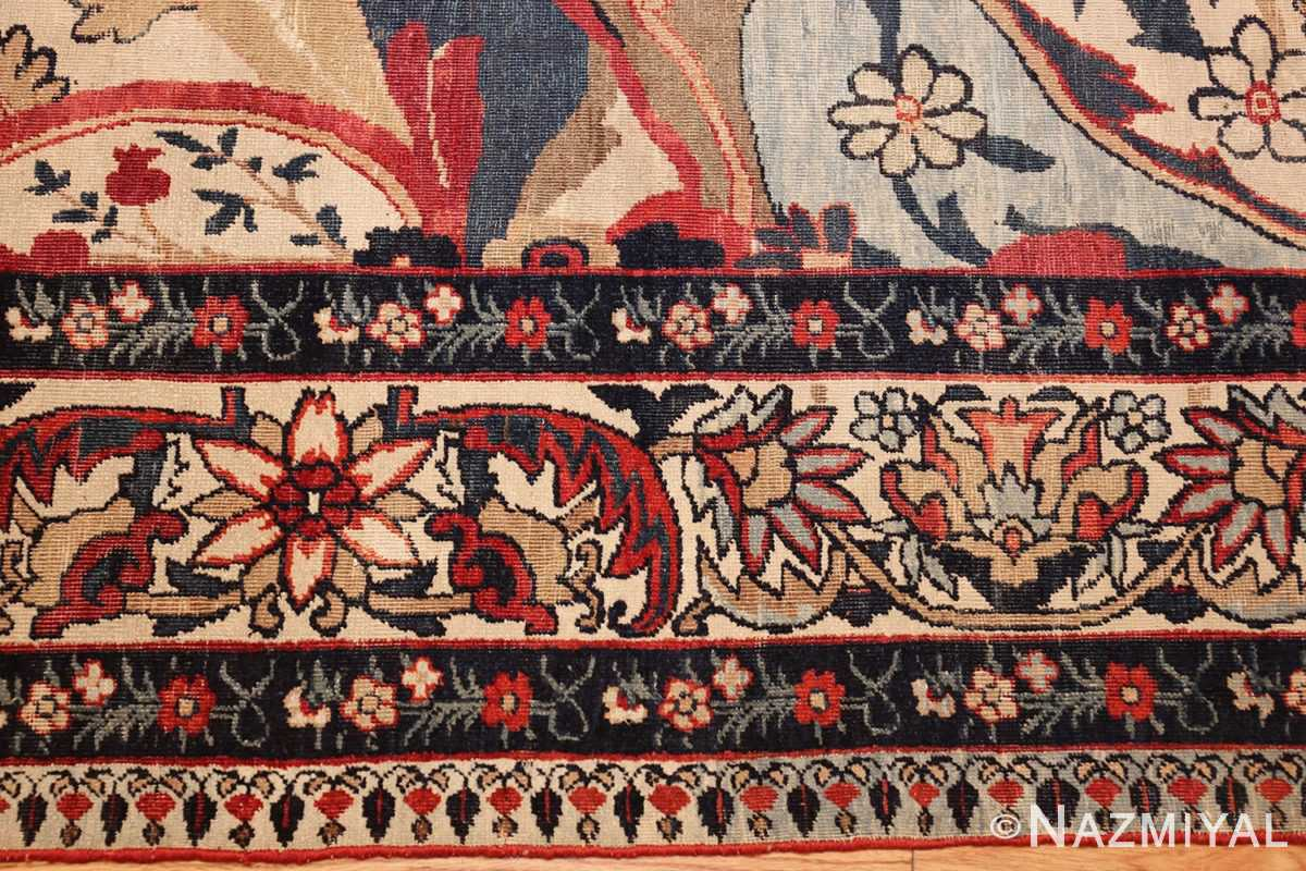 antique persian kerman rug 1817 border Nazmiyal