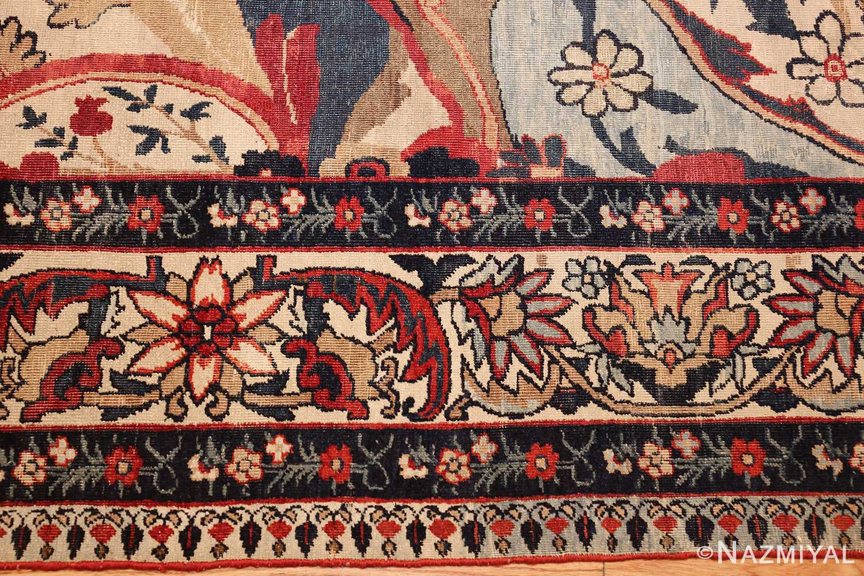 antique persian kerman rug 1817 border Nazmiyal