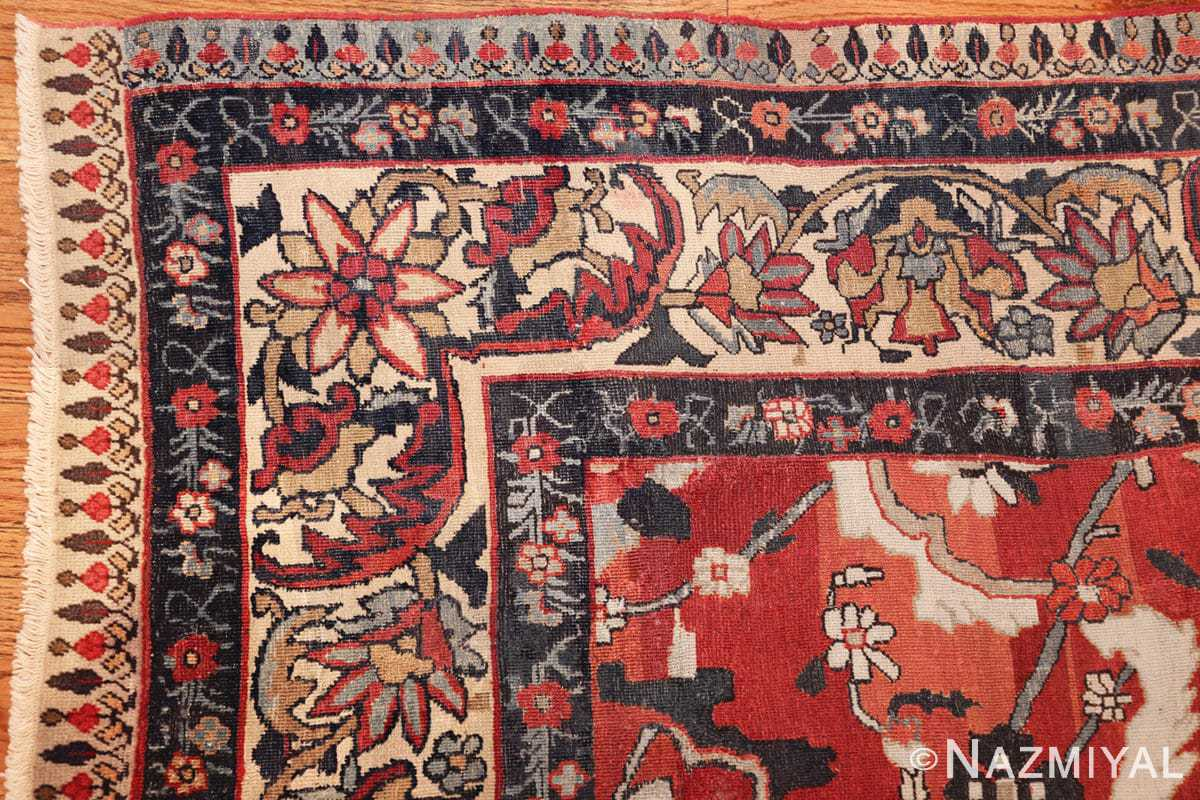 antique persian kerman rug 1817 corner Nazmiyal