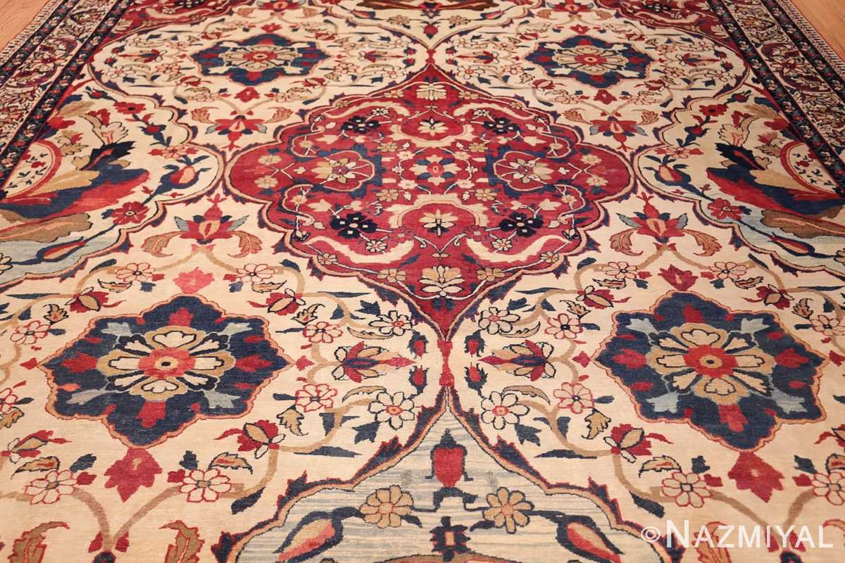 antique persian kerman rug 1817 field Nazmiyal