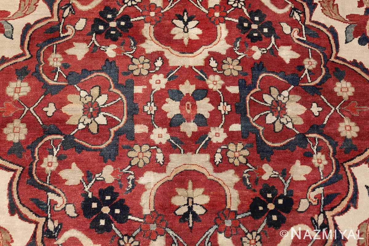 antique persian kerman rug 1817 red Nazmiyal