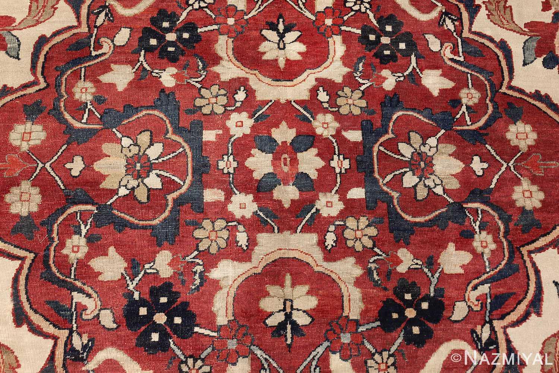 antique persian kerman rug 1817 red Nazmiyal