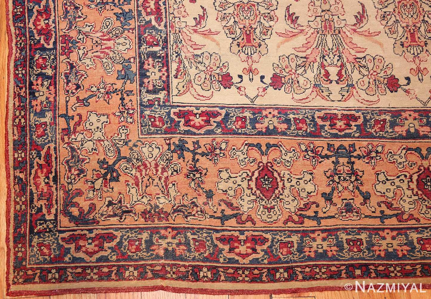 antique persian kerman rug 2632 corner Nazmiyal