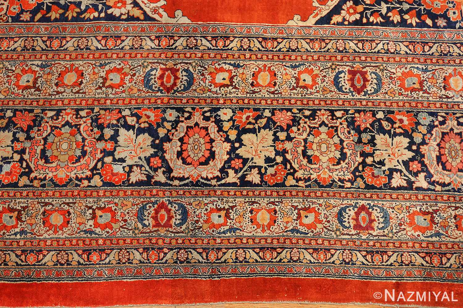 antique persian silk tabriz haji jalili rug 7991 border Nazmiyal