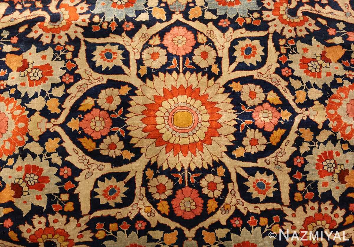 antique persian silk tabriz haji jalili rug 7991 center Nazmiyal