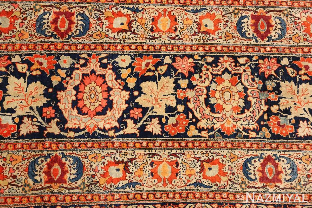 antique persian silk tabriz haji jalili rug 7991 closeup Nazmiyal