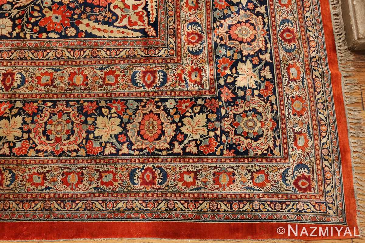antique persian silk tabriz haji jalili rug 7991 corner Nazmiyal