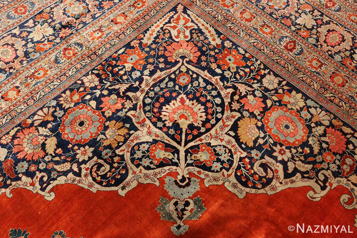 antique persian silk tabriz haji jalili rug 7991 design Nazmiyal
