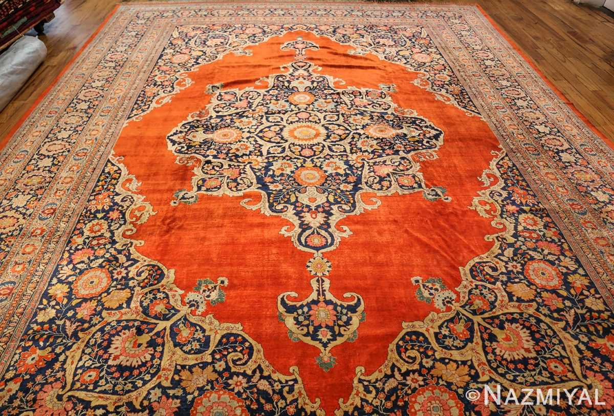 antique persian silk tabriz haji jalili rug 7991 full Nazmiyal