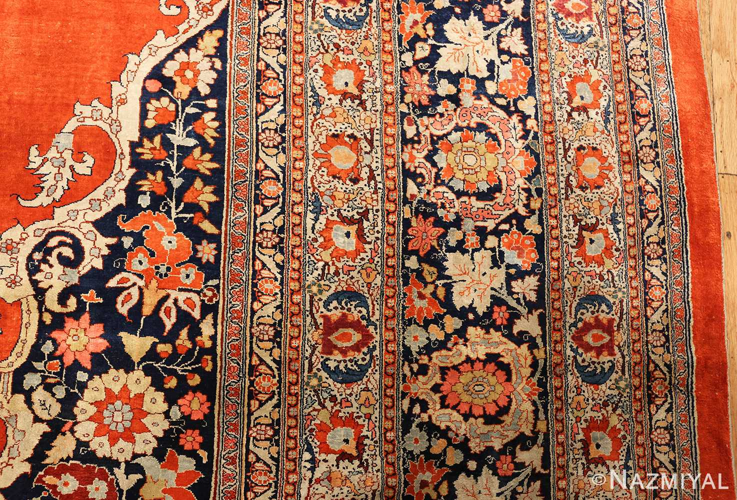 antique persian silk tabriz haji jalili rug 7991 vertical Nazmiyal