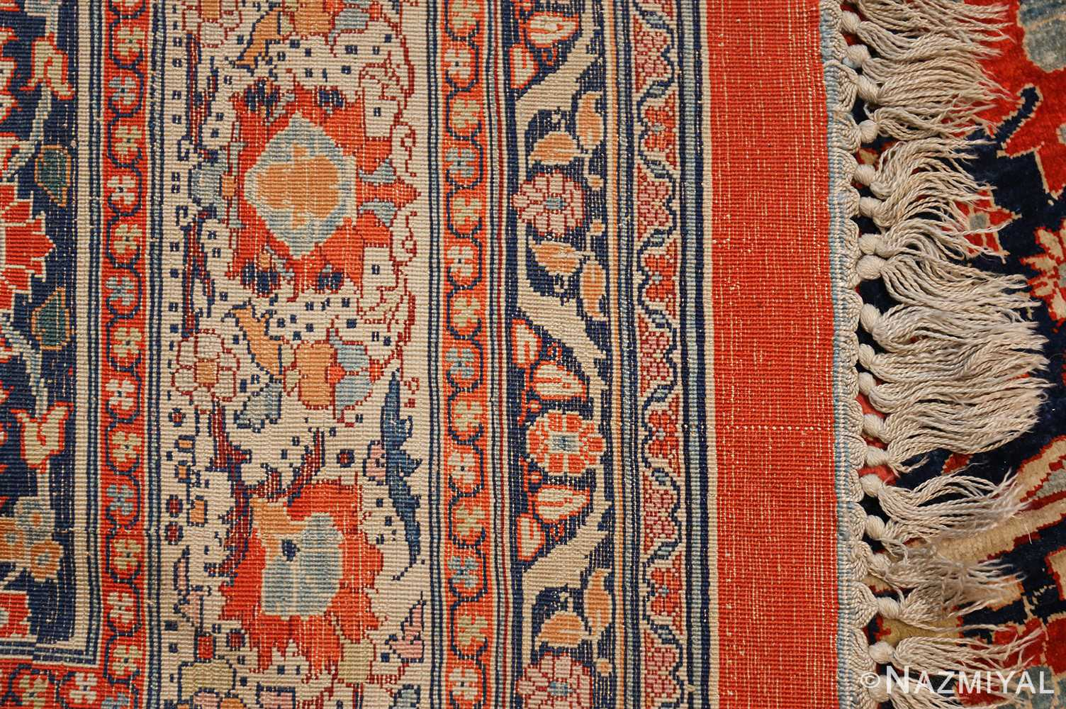 antique persian silk tabriz haji jalili rug 7991 weave Nazmiyal