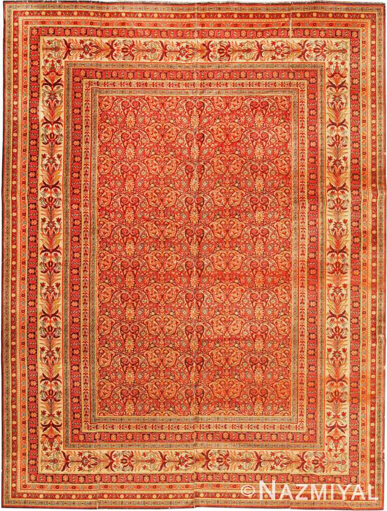 Antique Wilton English Area Carpet 1341 by Nazmiyal Antique Rugs