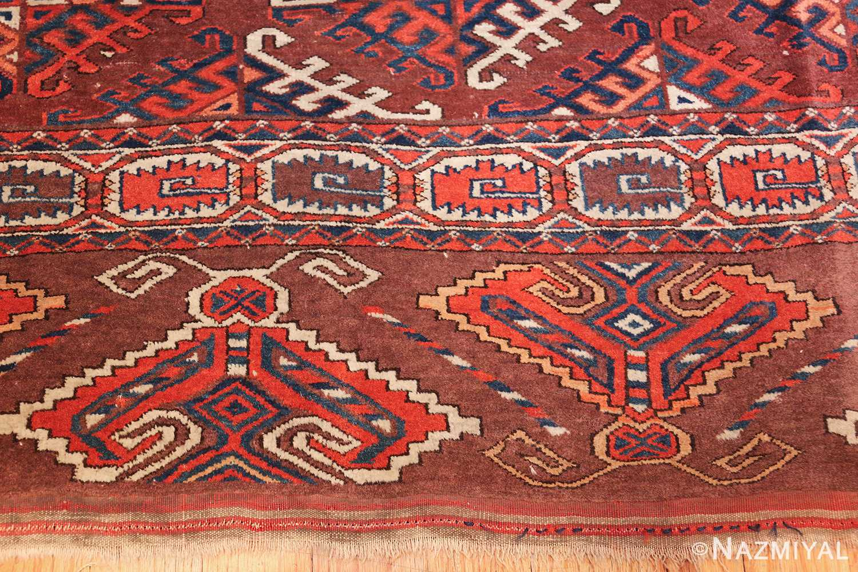 antique yomud oriental rug 41882 border Nazmiyal