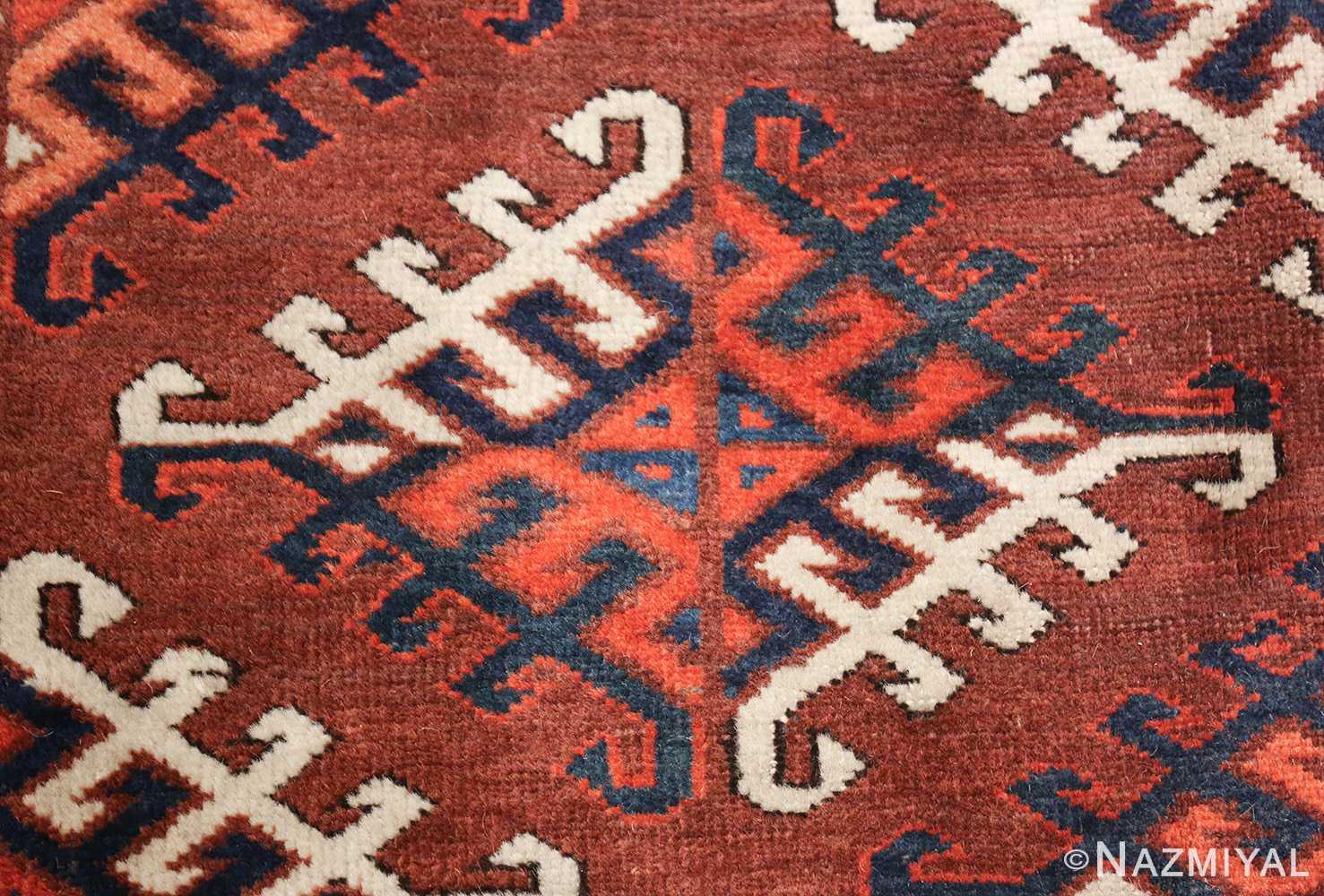 antique yomud oriental rug 41882 design Nazmiyal