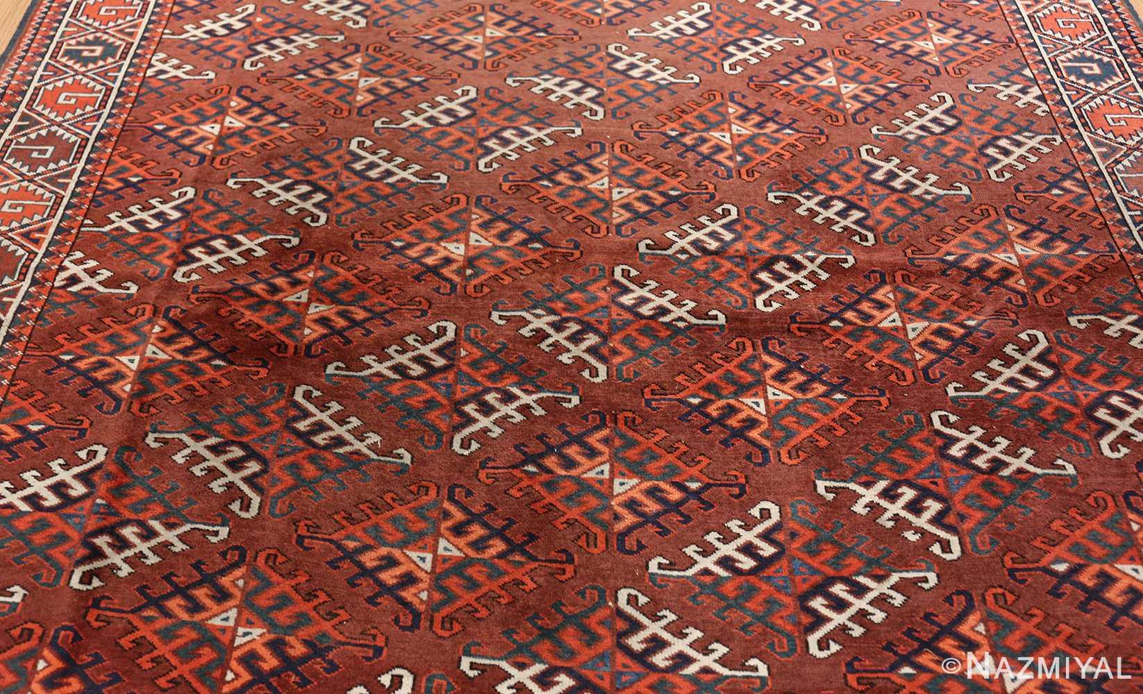 antique yomud oriental rug 41882 field Nazmiyal
