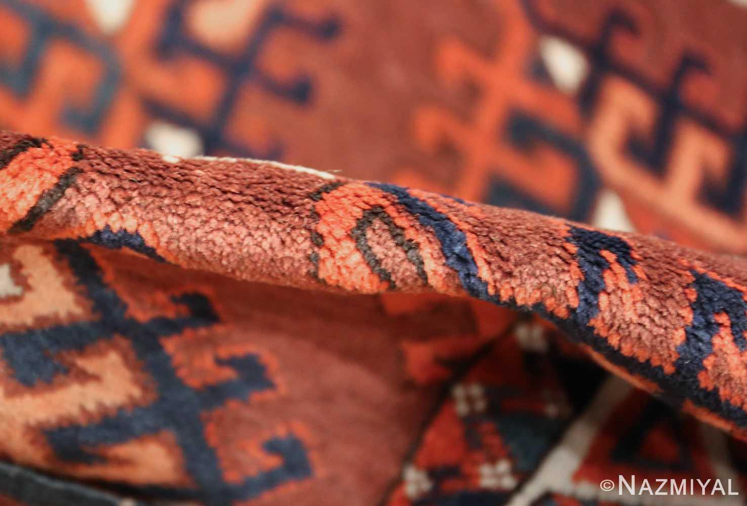 antique yomud oriental rug 41882 pile Nazmiyal