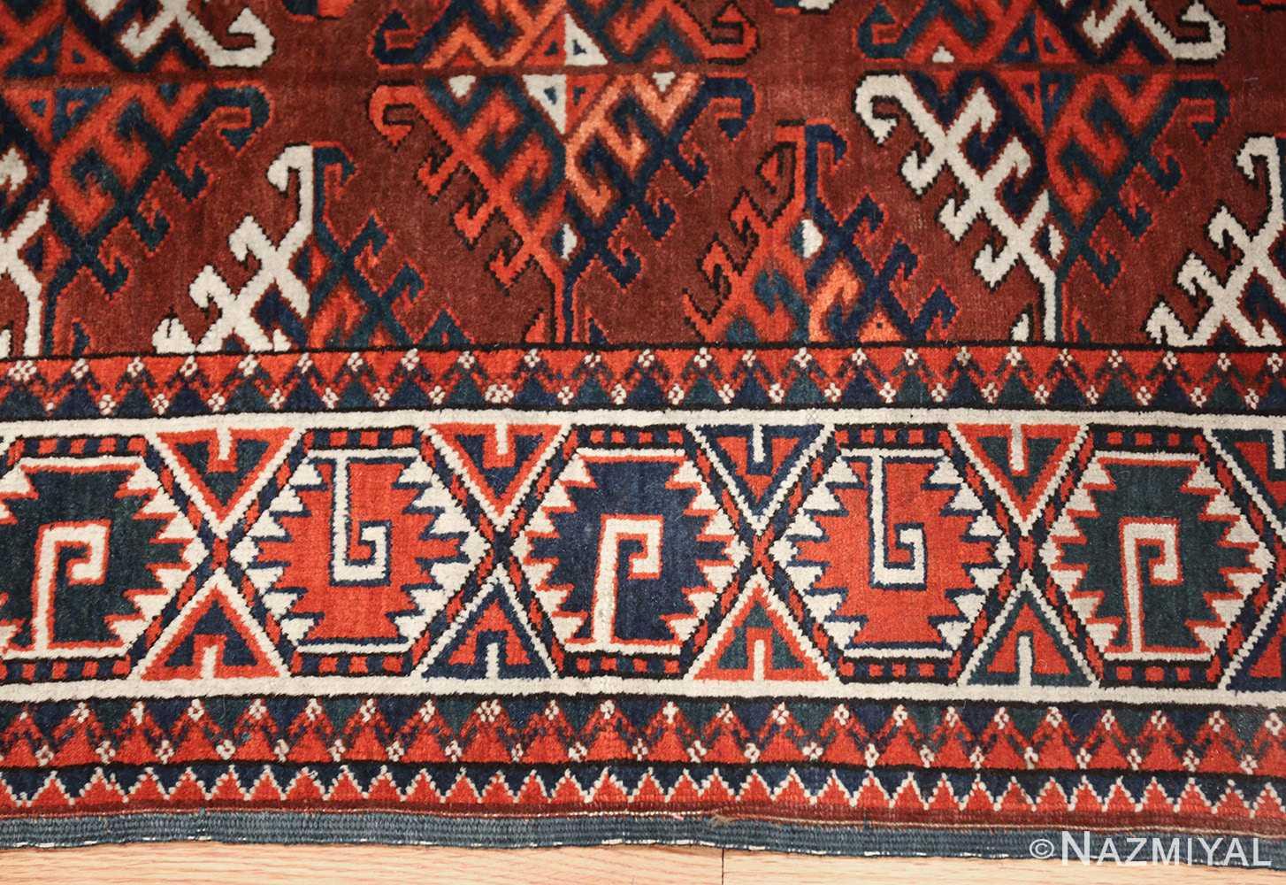 antique yomud oriental rug 41882 side Nazmiyal