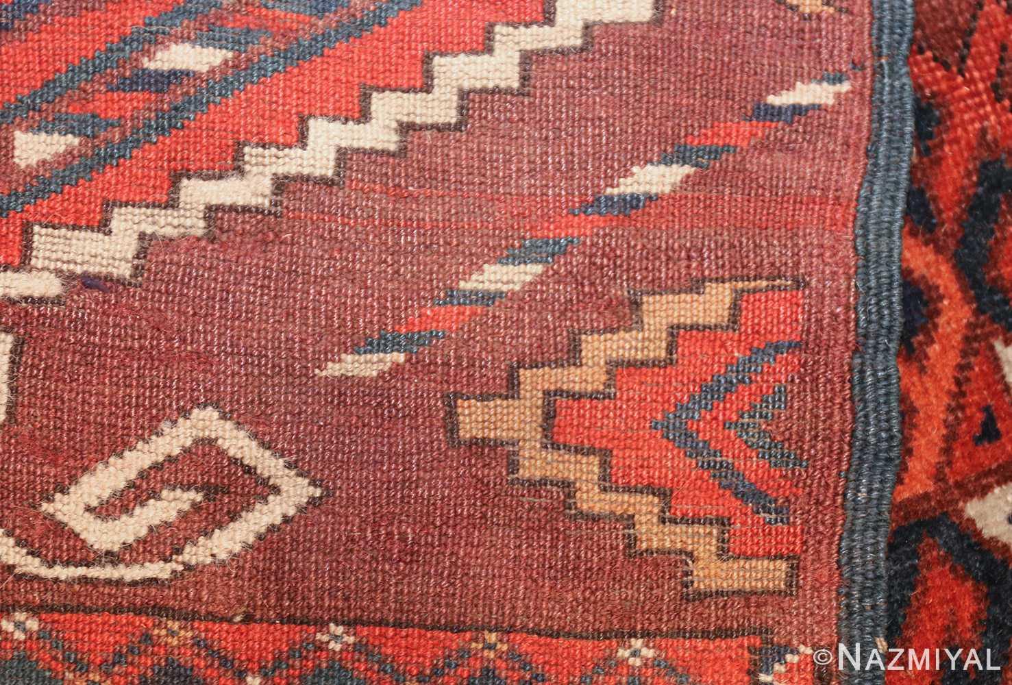 antique yomud oriental rug 41882 weave Nazmiyal