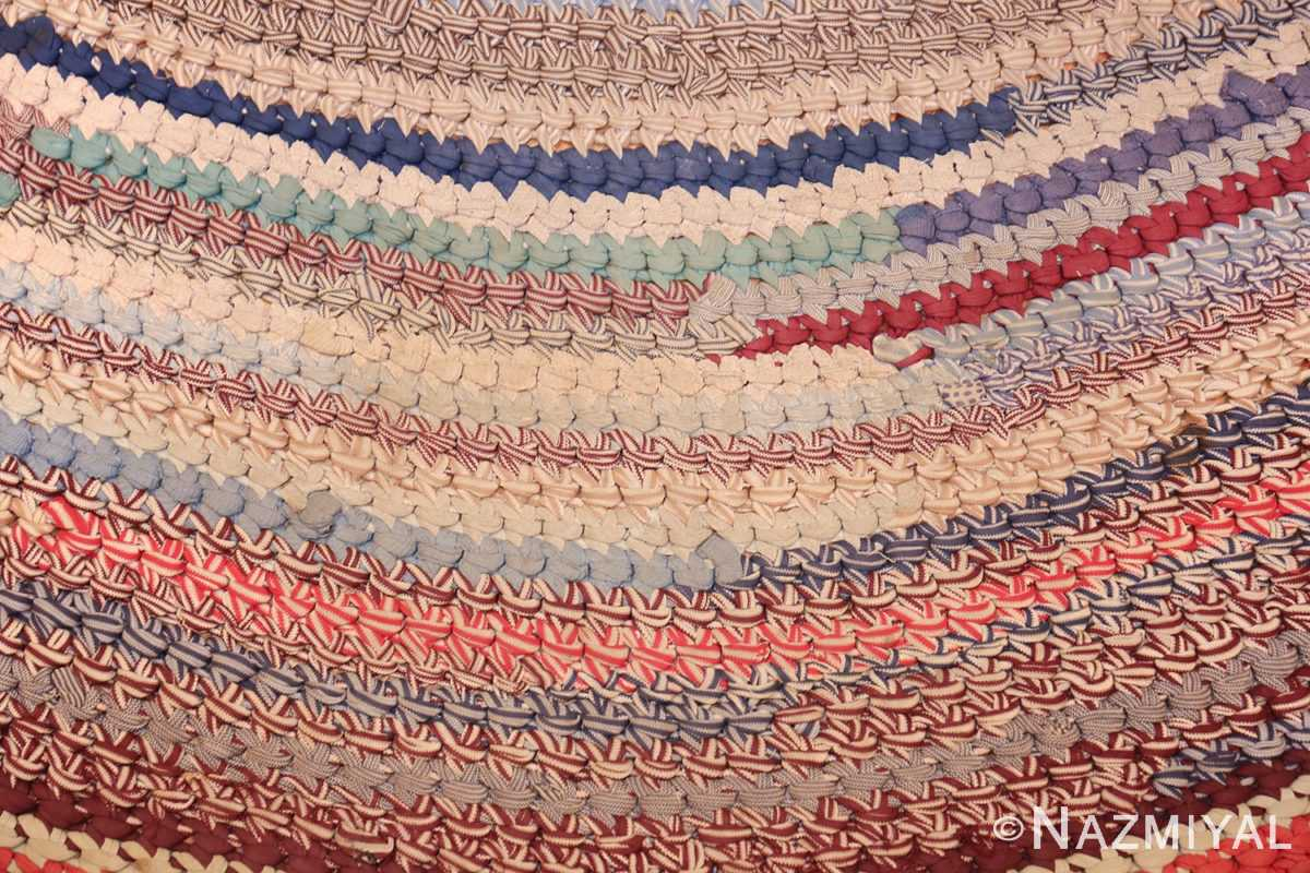 beautiful early american braided oval rug 1271 curves Nazmiyal