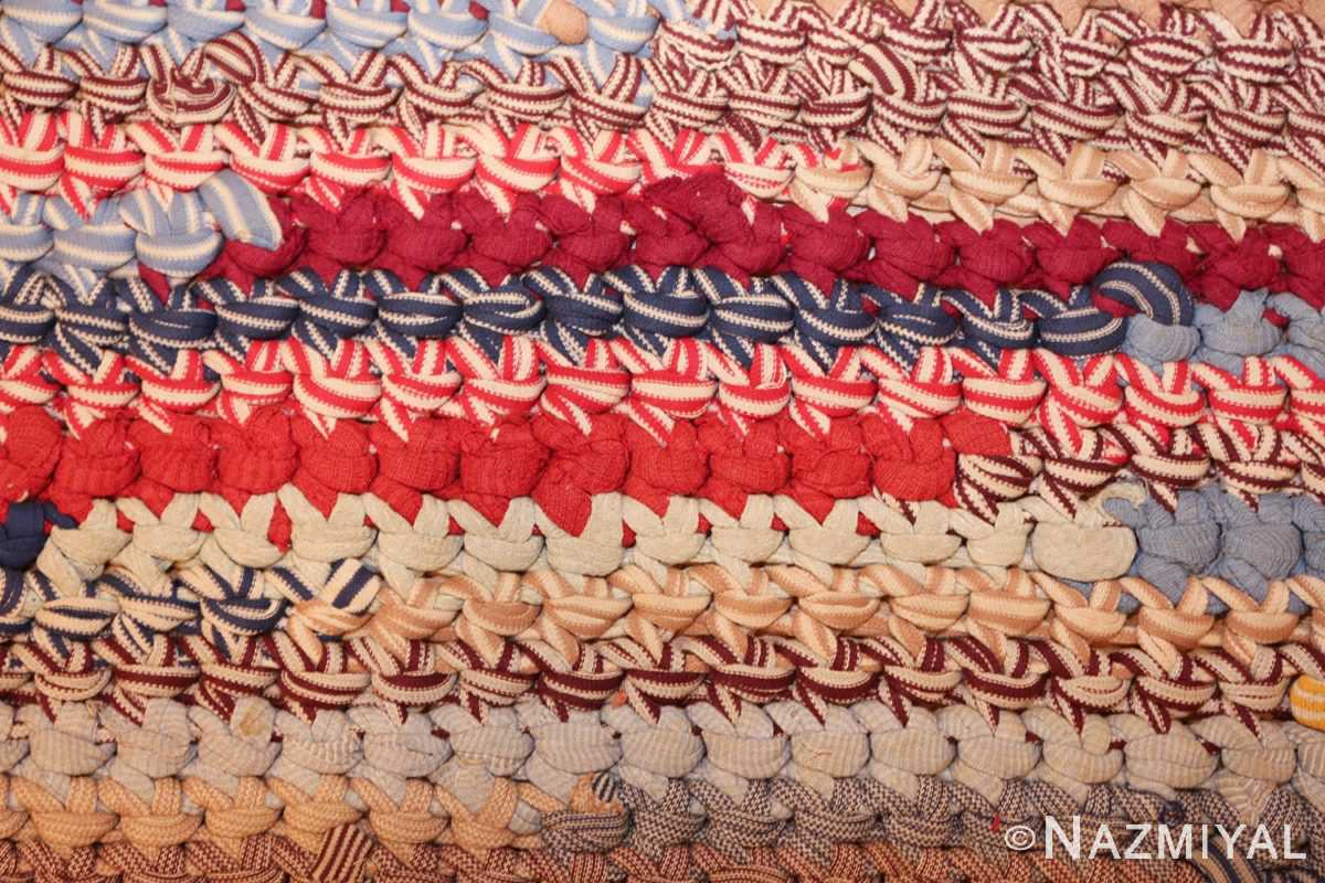 beautiful early american braided oval rug 1271 knots Nazmiyal