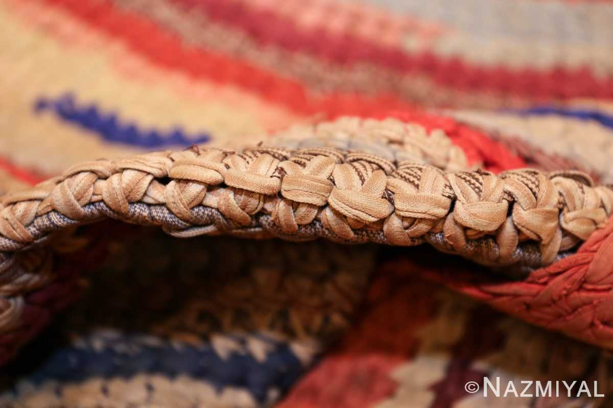 beautiful early american braided oval rug 1271 pile Nazmiyal