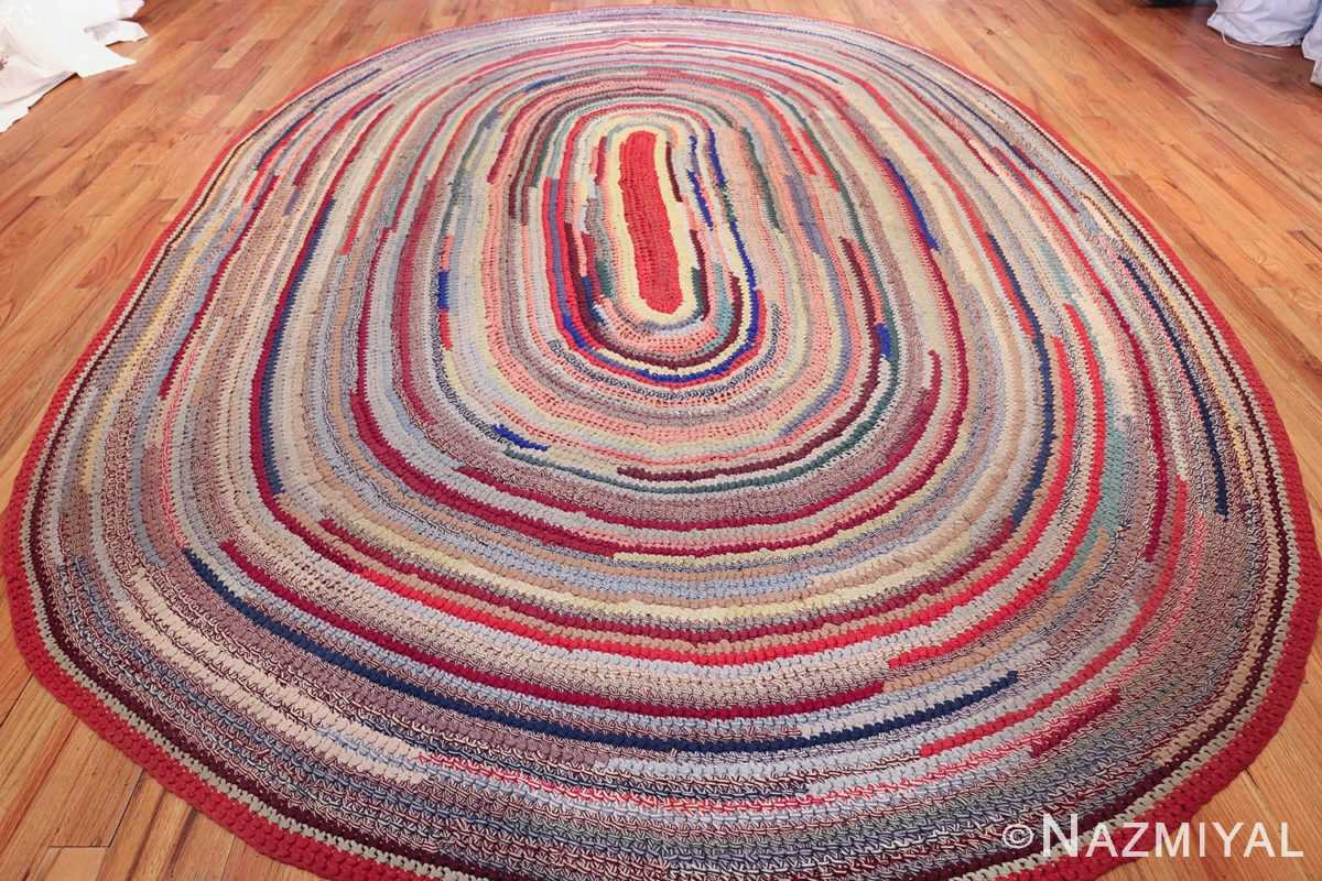 beautiful early american braided oval rug 1271 whole Nazmiyal