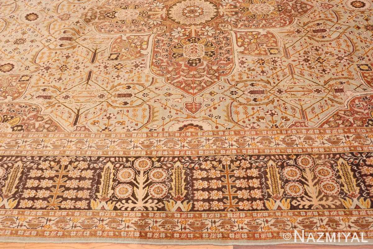 Border Antique Persian Tabriz rug 47144 by Nazmiyal