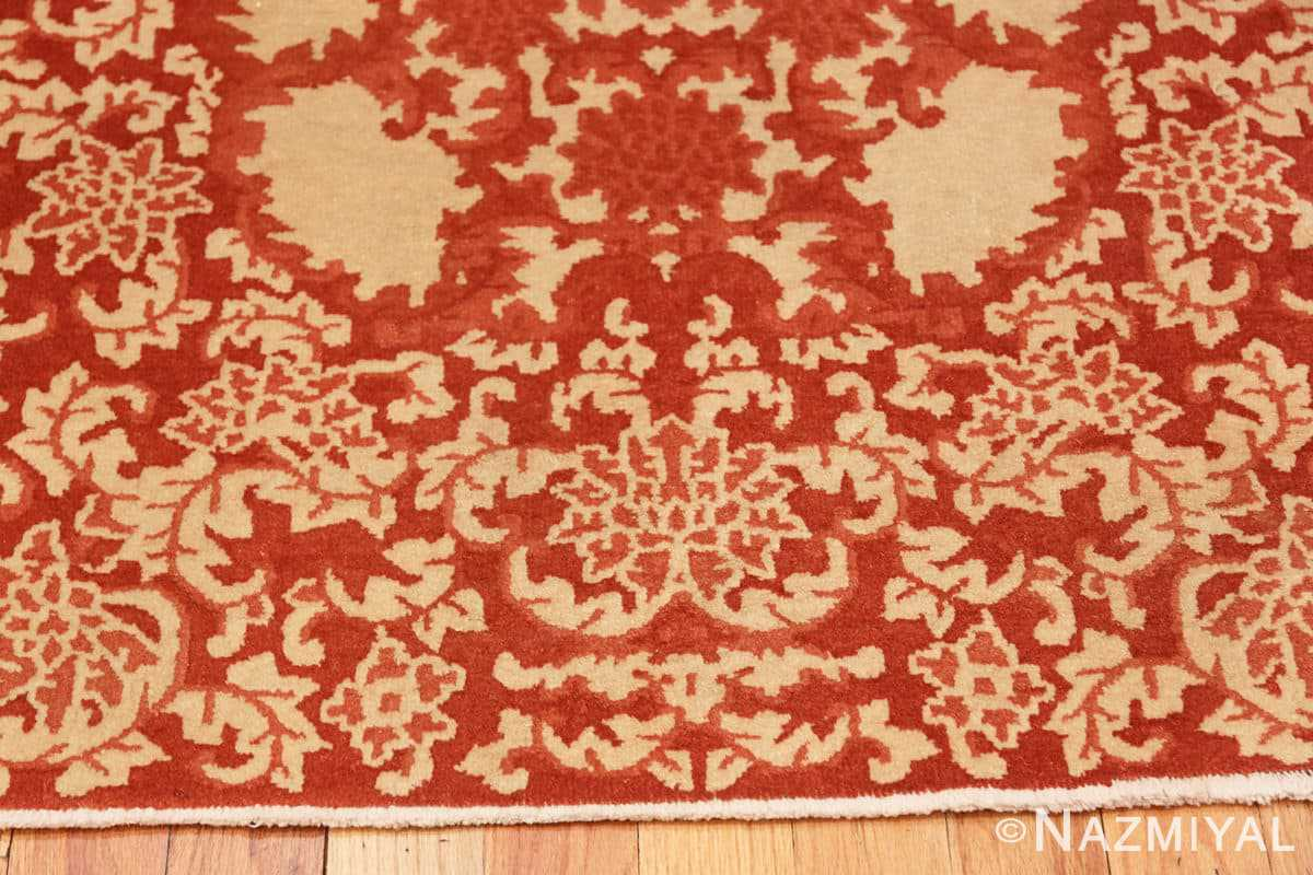 Border small scatter size Antique Oriental Chinese carpet 2608 by Nazmiyal