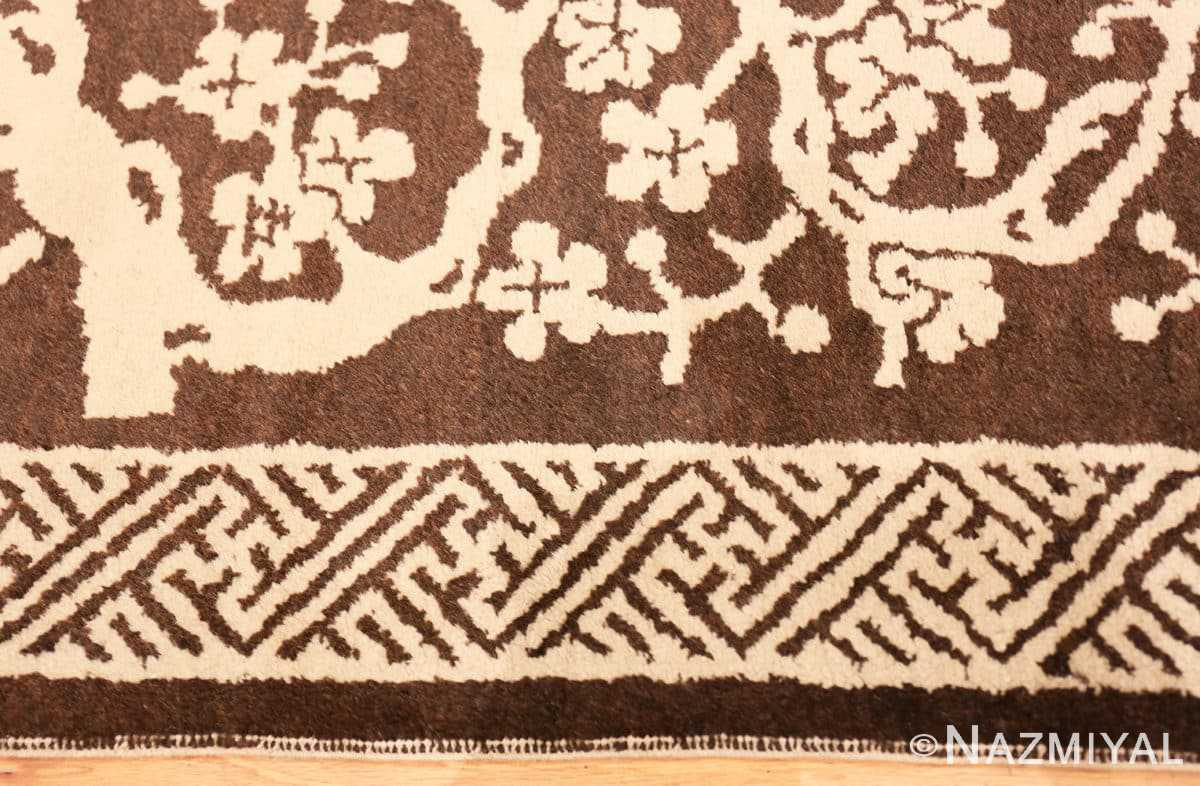 Border Small Scatter size Brown Antique Chinese Peking rug 1619 by Nazmiyal