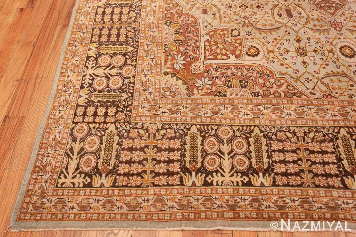 Corner Antique Persian Tabriz rug 47144 by Nazmiyal
