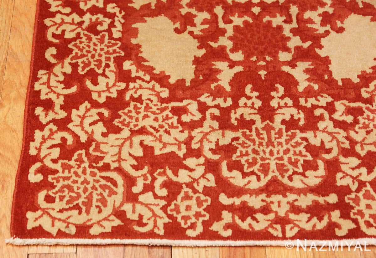 Corner small Scatter size Antique Oriental Chinese carpet 2608 by Nazmiyal