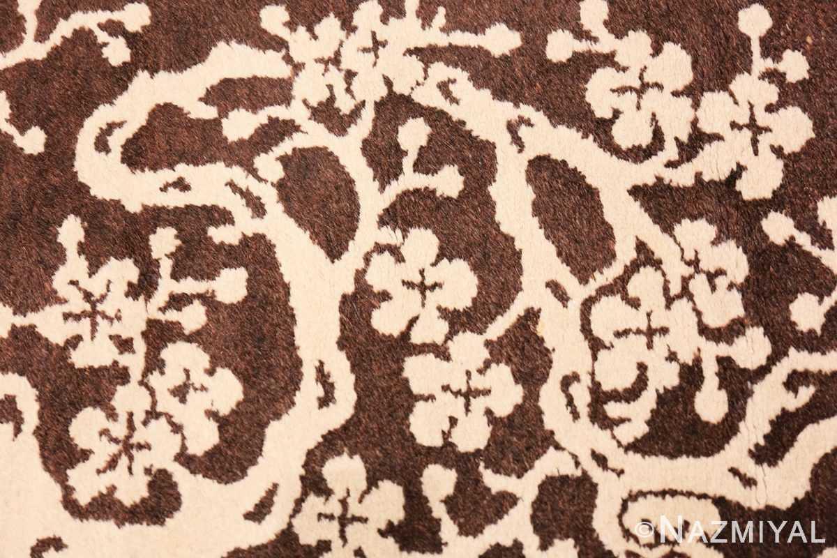 Detail Small Brown Antique Peking Chinese carpet 1620 by Nazmiyal