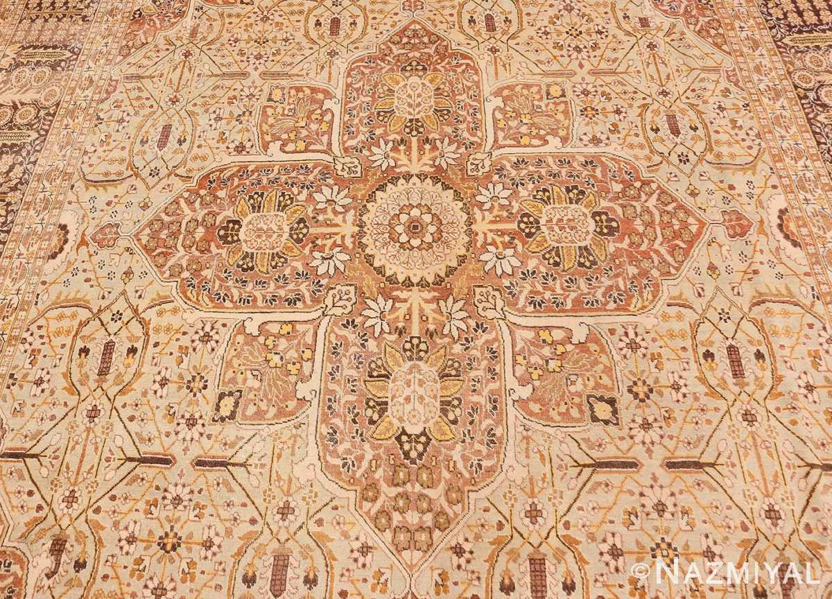 Field Antique Persian Tabriz rug 47144 by Nazmiyal