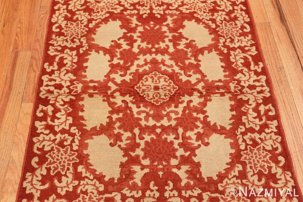Field small Scatter size Antique Oriental Chinese carpet 2608 by Nazmiyal
