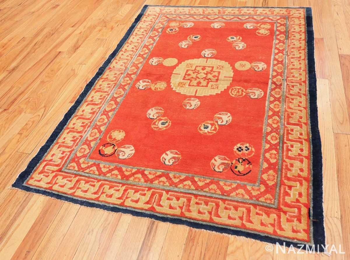 Full Red Background Ningxhia Antique Chinese rug 43024 by Nazmiyal