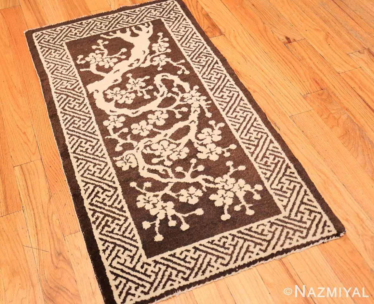 Full Small Brown Antique Peking Chinese carpet 1620 by Nazmiya