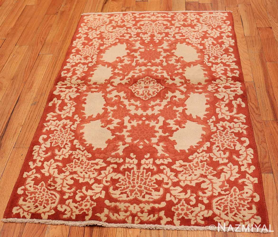 Full small Scatter size Antique Oriental Chinese carpet 2608 by Nazmiyal