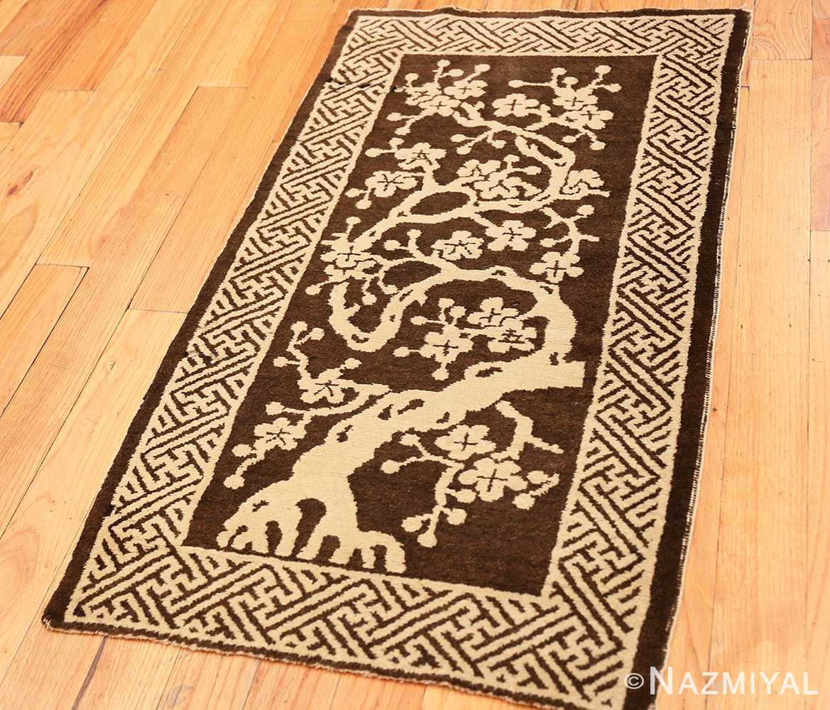 Full Small Scatter size Brown Antique Chinese Peking rug 1619 by Nazmiyal