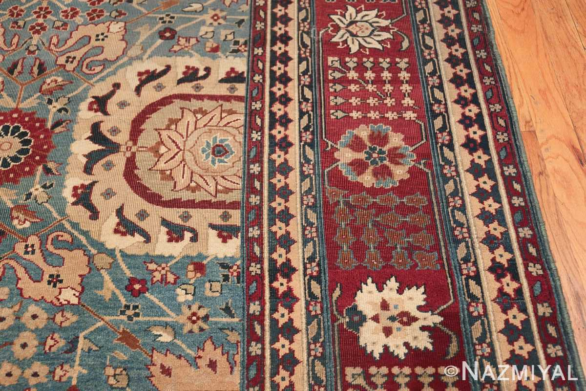 Large Antique Vase Design Indian Agra Rug 3342 Border Design Nazmiyal