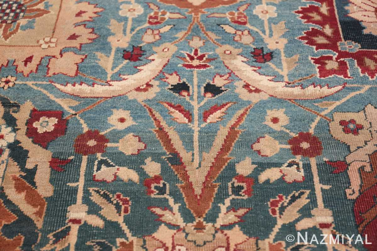 Large Antique Vase Design Indian Agra Rug 3342 Branches Field Nazmiyal