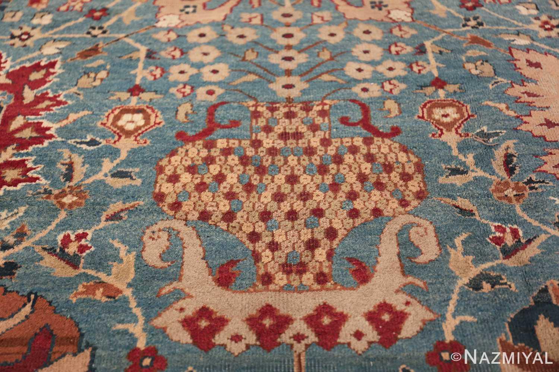 Large Antique Vase Design Indian Agra Rug 3342 Elaborated Vase Nazmiyal