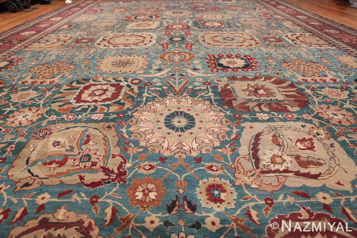 Large Antique Vase Design Indian Agra Rug 3342 Field Design Nazmiyal
