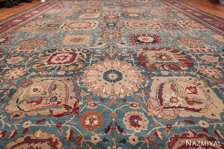Large Antique Vase Design Indian Agra Rug 3342 Field Design Nazmiyal