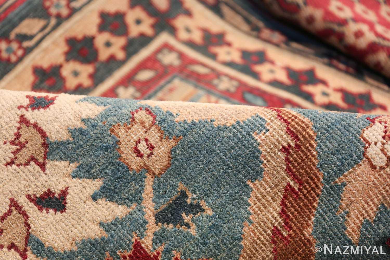 Large Antique Vase Design Indian Agra Rug 3342 Floral Pile Nazmiyal