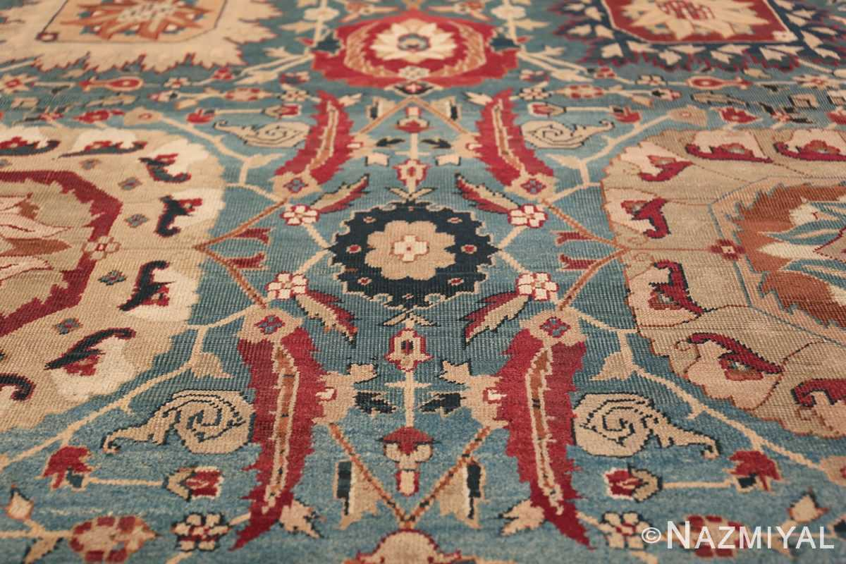 Large Antique Vase Design Indian Agra Rug 3342 Four Red Leaves Nazmiyal