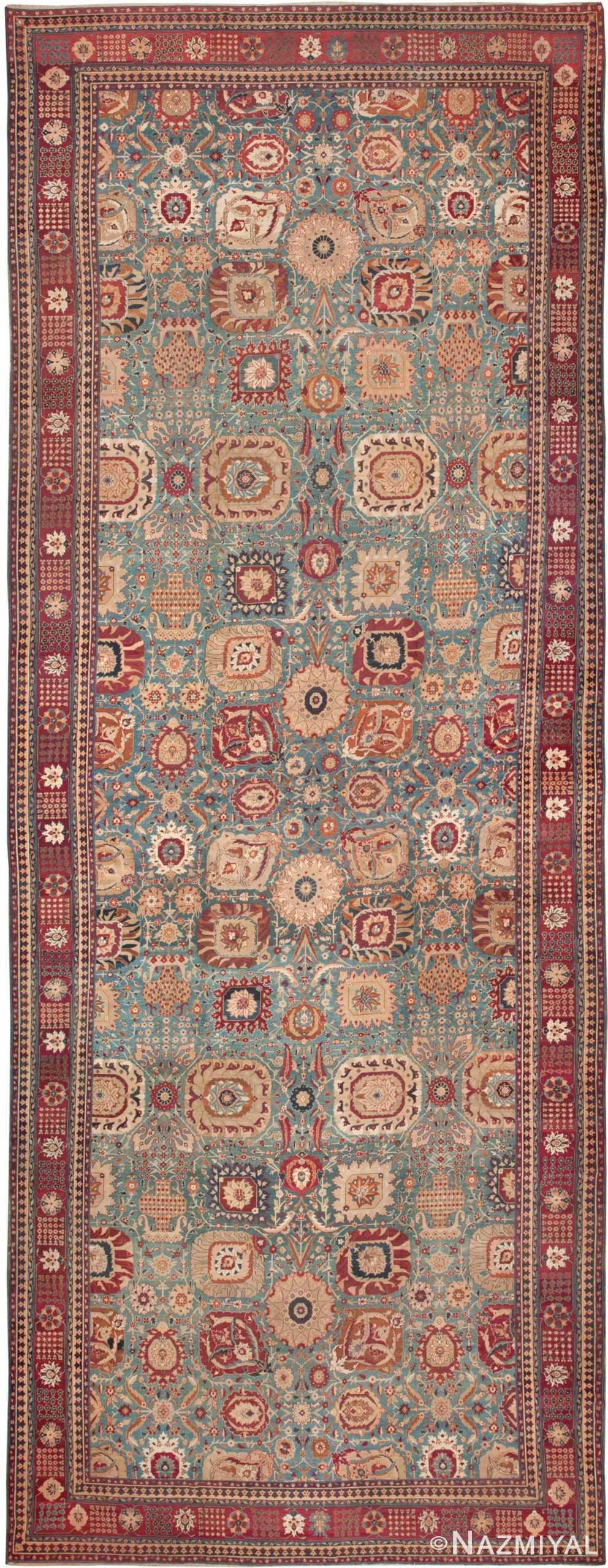 large antique vase design indian agra rug 3342 Nazmiyal