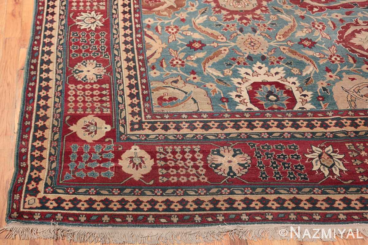 Large Antique Vase Design Indian Agra Rug 3342 Side Corner Nazmiyal